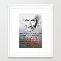 superwholock Framed Art Prints featuring Doctor Who - William Hartnell Hand Drawn Poster - Exiles in Time and Space by Particularly Peculiar