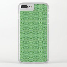 60s Decor Inspired Baby Spinach Clear iPhone Case