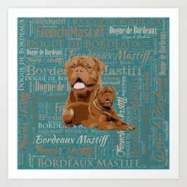 Dogue de Bordeaux Digital Art Art Print