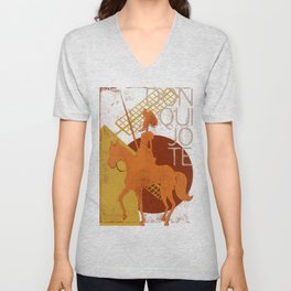 Books Collection: Don Quixote Unisex V-Neck