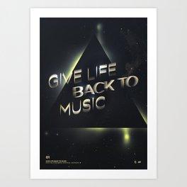 Daft Punk: Give Life Back to Music Art Print