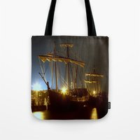 ships Tote Bags featuring Tall Ships by Forand Photography