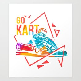 Karting Go-Kart track Racing Kart Karting Driving Art Print
