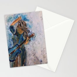 rock and roll goddess Stationery Cards