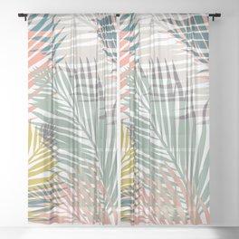 Pop Tropical Botanical Print Sheer Curtain