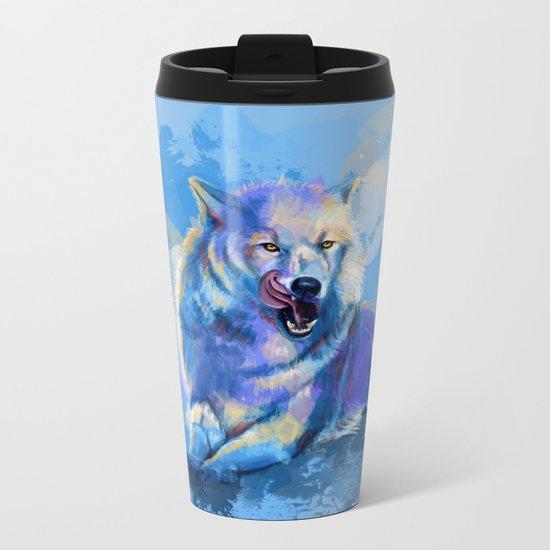 Awaken the Wolf Metal Travel Mug