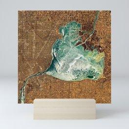 Frozen Lake St. Clair & Detroit Mini Art Print