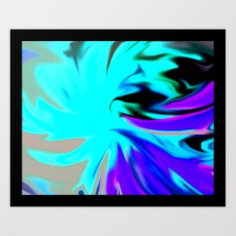 Windy Rose Art Print