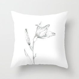 A flower of flour Throw Pillow