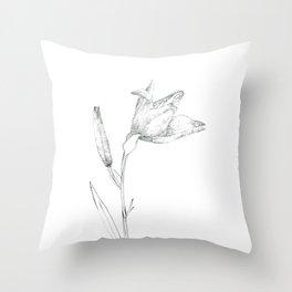 A flower of flour Throw Pillow