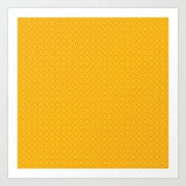 Tartan Orange Art Print