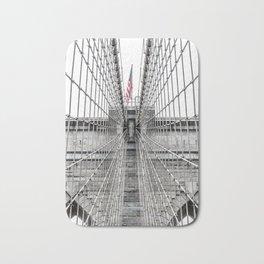 The Brooklyn Bridge and American Flag Bath Mat