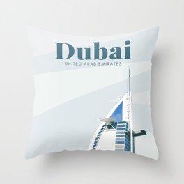 Dubai Burj Al Arab UAE Throw Pillow