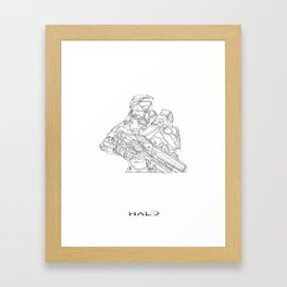 HALO Master Chief continuous line Framed Art Print