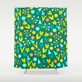 Easter Yellow Daffodil Pattern Shower Curtain
