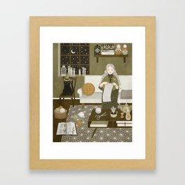 knitting magic Framed Art Print
