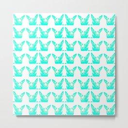 Mitzi blue and white, pattern Metal Print