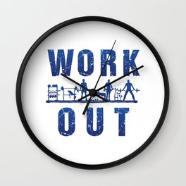 Work Out Wall Clock