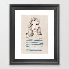 Sea girl Framed Art Print