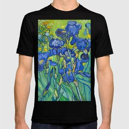 Vincent Van Gogh Irises Painting Detail T-shirt