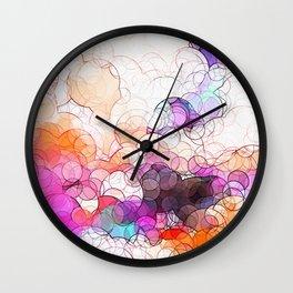 Geometric / Circular Landscape Art Wall Clock