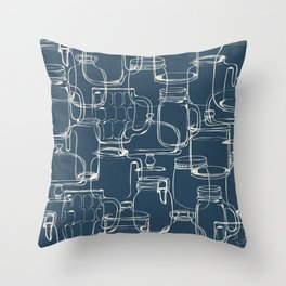 glass containers Throw Pillow