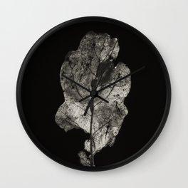 Project 'Decay'. Oak leaf (Quercus robur) Wall Clock