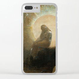 Melancholy by Odilon Redon, 1876 Clear iPhone Case