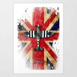 Spitfire Mk.IX Art Print