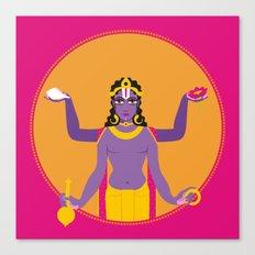 the blue god- Neel VIshnu Canvas Print
