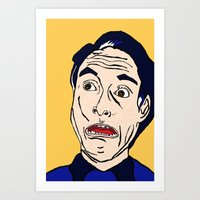 lichtenstein Art Prints featuring Roy Lichtenstein  by Rachel Cecelski