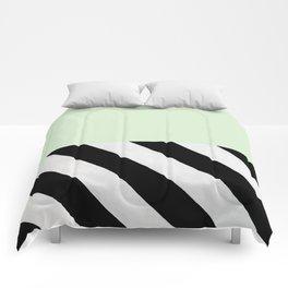 PARALLEL_LINES_GREEN_MINT Comforters
