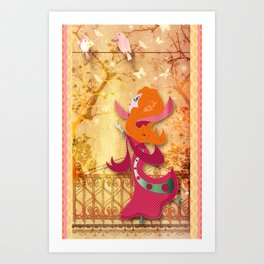 Flore Art Print
