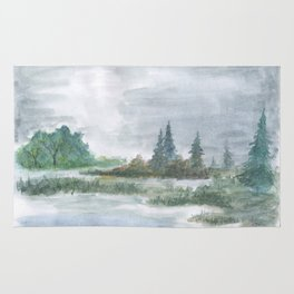 Forest marsh Rug