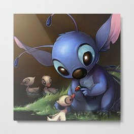 LILO E STITCH: CUTE STITCH PLAYING Metal Print