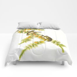 Pine Finch Bird Comforters