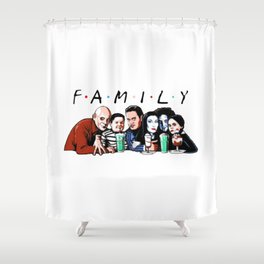 Family Friends Tv Show Halloween Shower Curtain