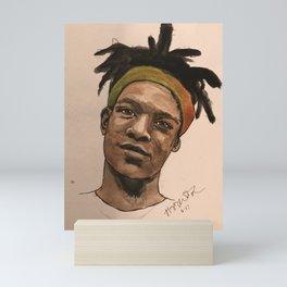 Watercolor Basquiat Mini Art Print
