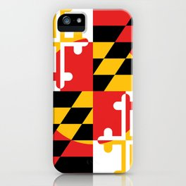 Maryland State Flag Art Print iPhone Case