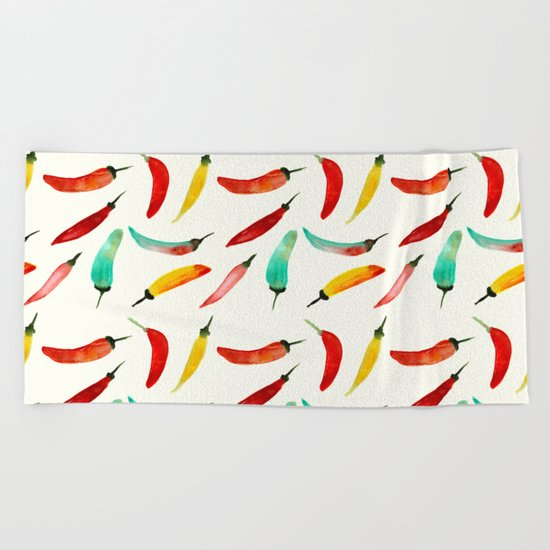 Hot chili peppers Beach Towel