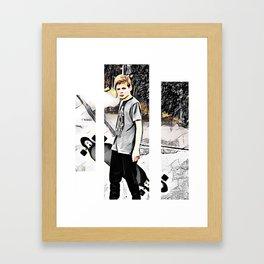Skater boy Framed Art Print