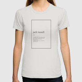 Jack Russel 337 Watercolor Map Yoga Quote Definiti T-shirt