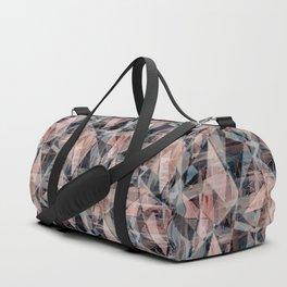 Abstract geometric. Black and beige. Duffle Bag