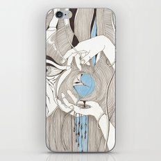 Small blue thing iPhone Skin