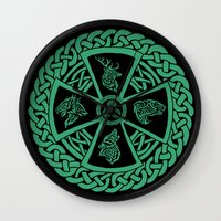 celtic Wall Clocks featuring Celtic Nature by Astrablink7