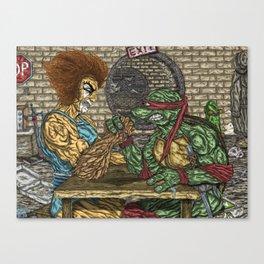 ThunderCats Vs. The Turtles - Lion-O Vs. Raphael Canvas Print