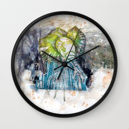 Orangy Elephant Wall Clock