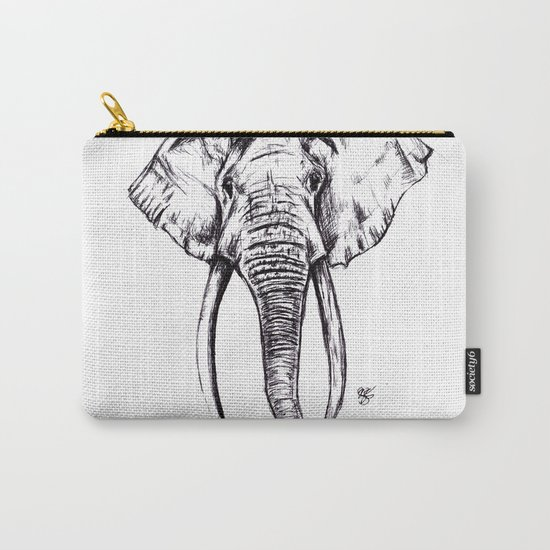 Elephant Drawing Carry-All Pouch