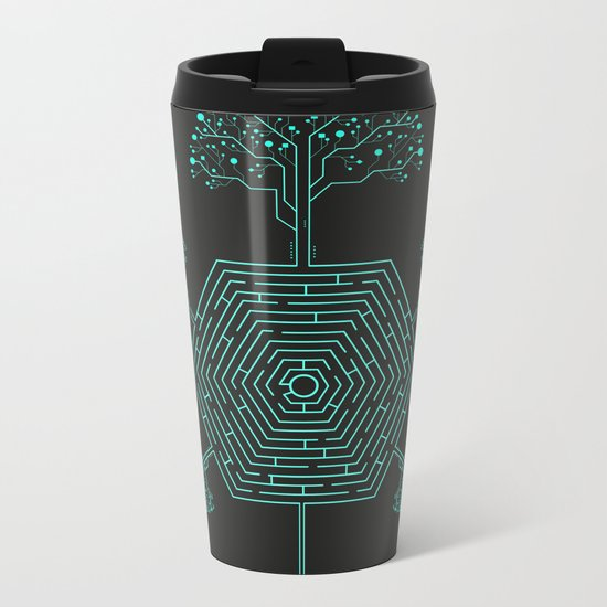 Natural Maze Metal Travel Mug