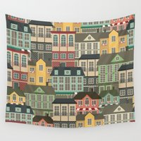 urban Wall Tapestries featuring Urban by Julia Badeeva